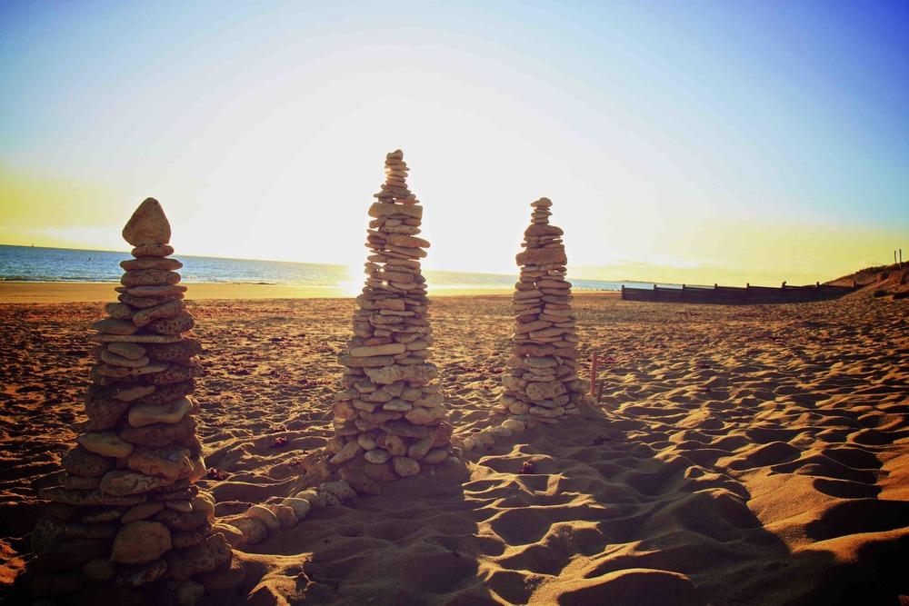 Construction en pierre plage de la couarde sur mer