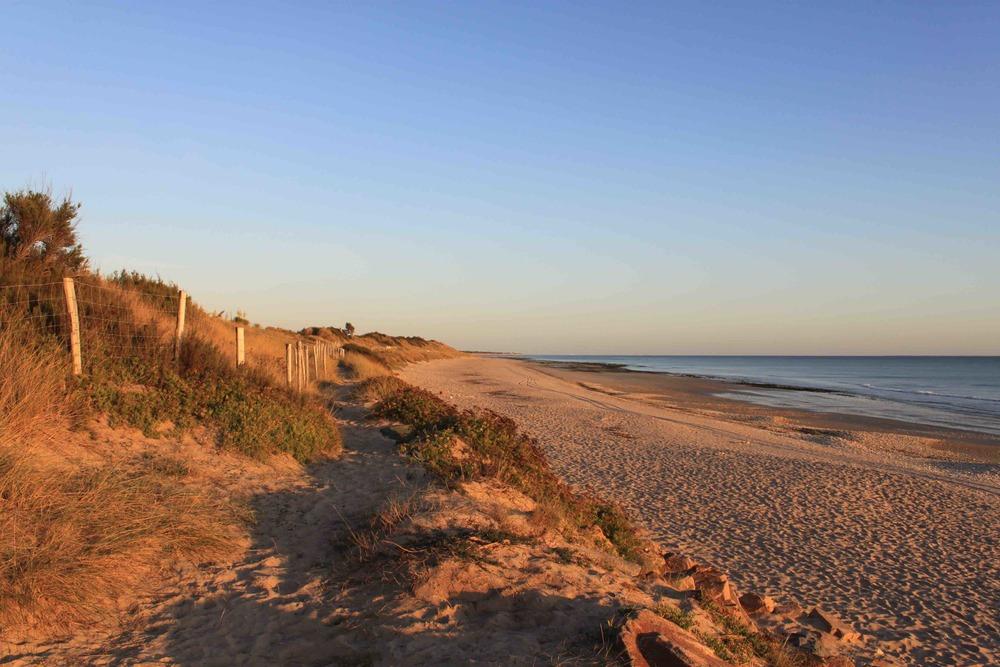 Dunes de sable de la couarde sur mer