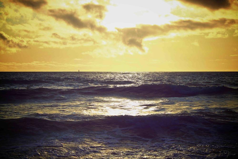 coucher de soleil, la couarde sur mer