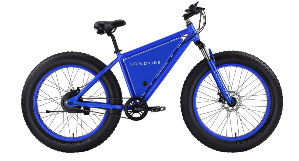 Power Up Your Biking Experience - You know you want one!  You see them all over town. These 2 SONDORS electric bikes are designed and engineered from the ground up to the most exhilarating and attention-grabbing electric bikes available.  Hot off the production line, two (one blue + one charcoal) 2018 SONDORS