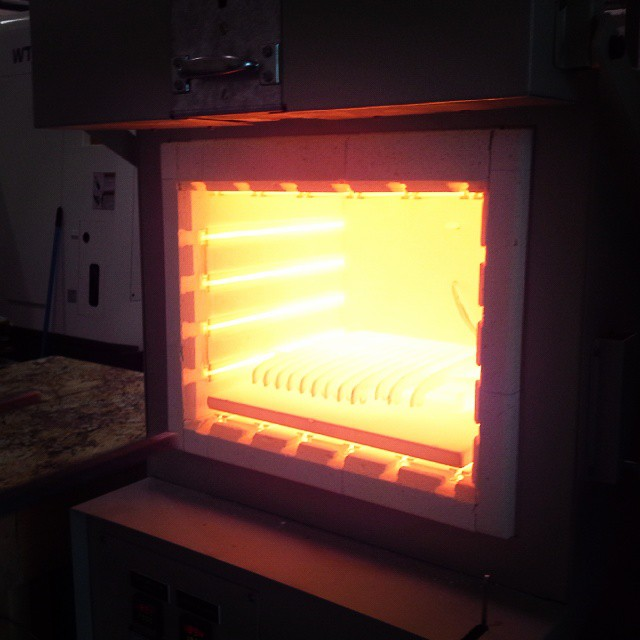 Heat treating Sandvik 12C27 to 1935F..... How hot was your Canada Day?
