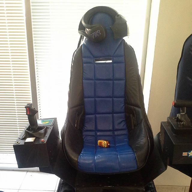 This Prototypes Plus legacy recliner, was once a state of the art virtual reality flight simulator. These were made here at our shop, until Nintendo bought them out. Cool useless trivia of the day.