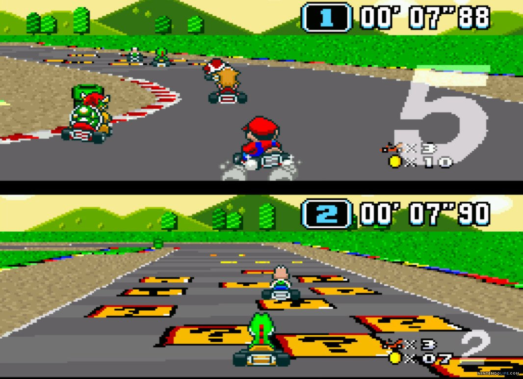 Super Mario Kart SNES Best SNES Games