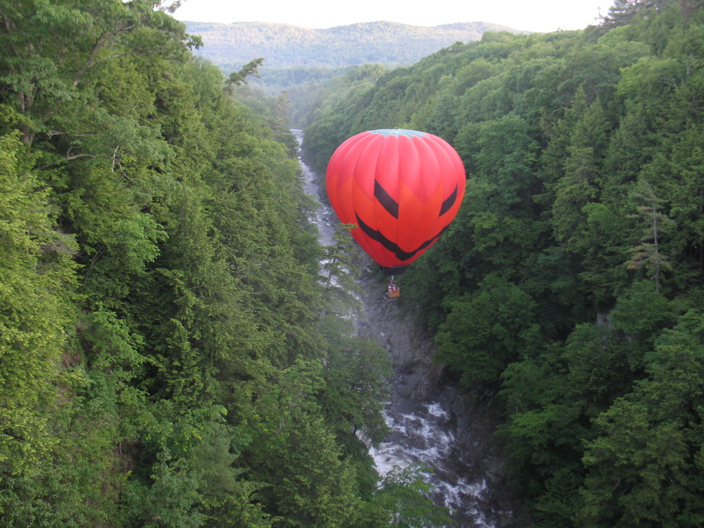 Jackie Flying in the Quechee Gorge