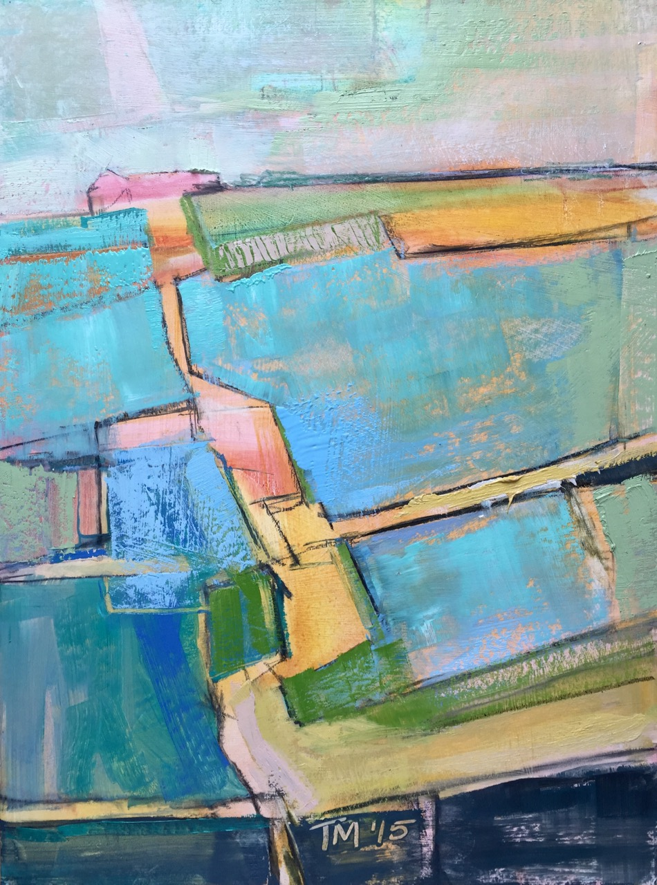 Untitled Fields , 2015, oil on board, 20 x 15 in / 51 x 38 cm