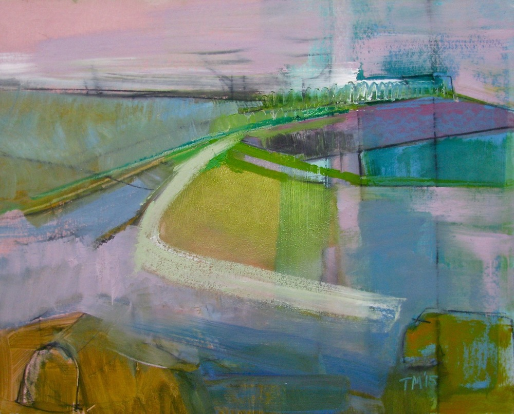 Tuscan Hills , 2015, oil on board, 30 x 24 in / 61 x 76 cm