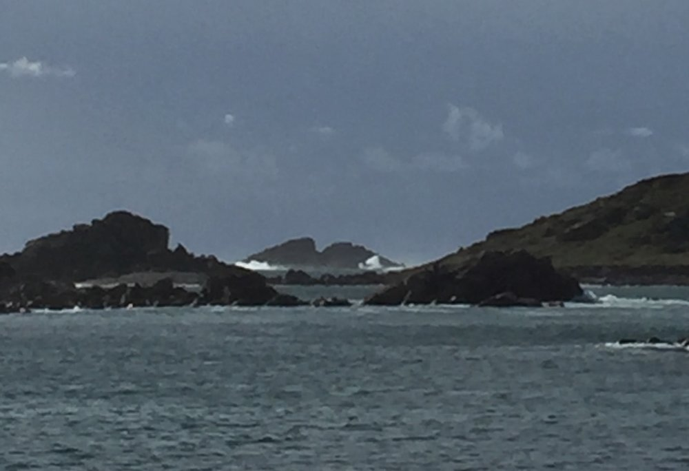 Rough seas gathering on Bryher