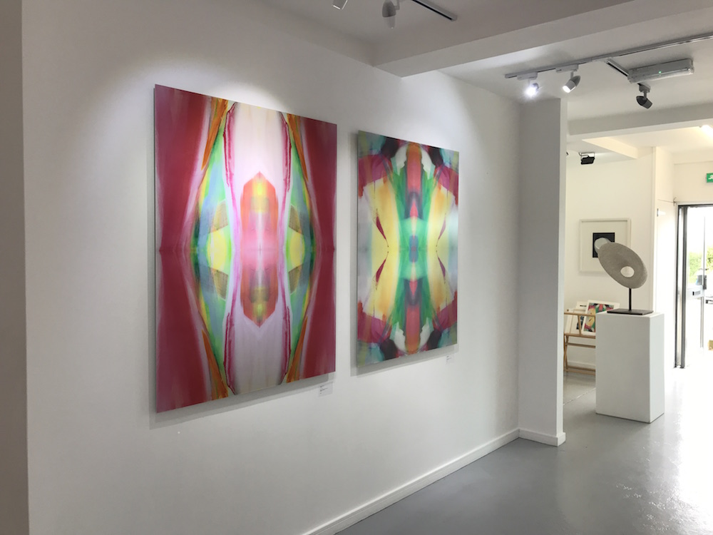 Oracle (left) and Premonition (Right) installed at Circle Contemporary