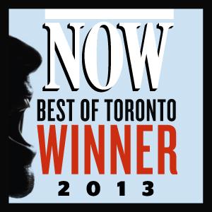 NOW magazine Toronto, Best Dentist award, voted by readers