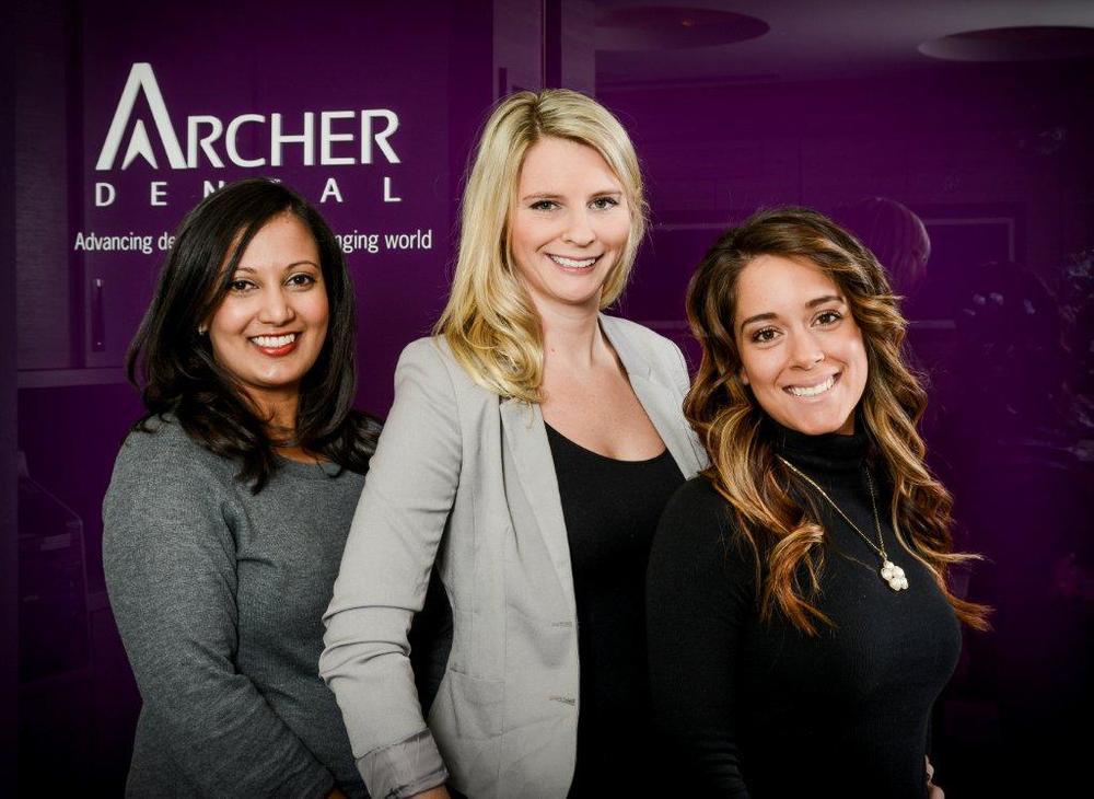 From left to right: Chandula Samarajeeva, Jennifer Jordan and Ashley Grosso.