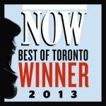 NOW Magazine Best of Toronto Best Dentist Winner, 2013