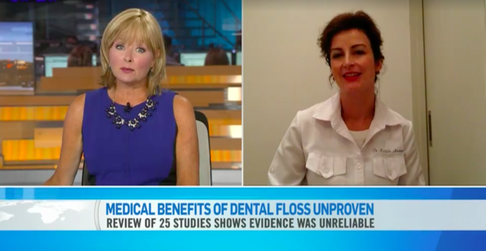Dr. Archer being interviewed by CTV News Channel about the latest flossing developments
