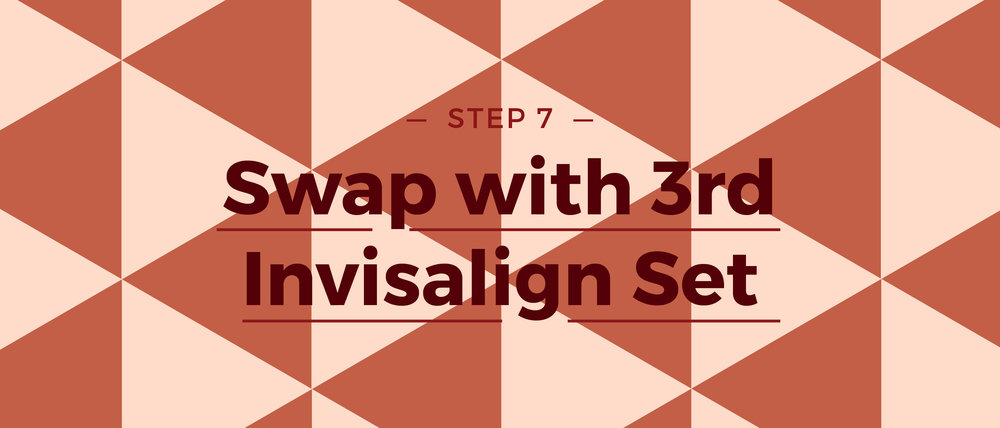 Step 7 Swap with 3rd Invisalign Set