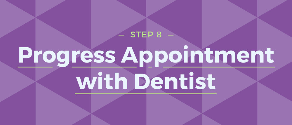 Step 8 Progress Appointment with Dentist