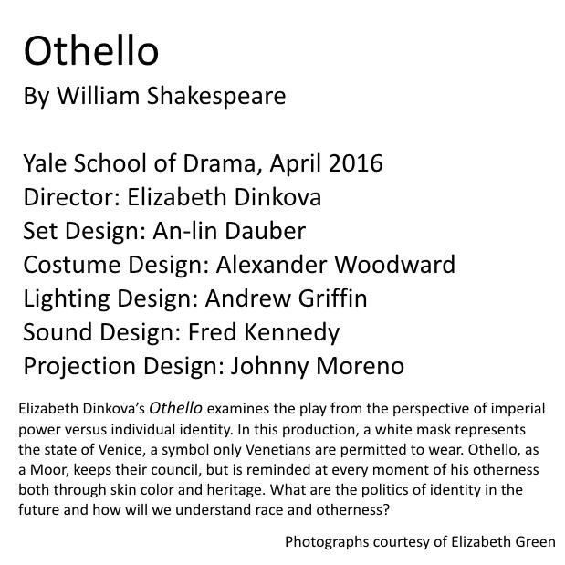 Othello Set Design An Lin Dauber Designs