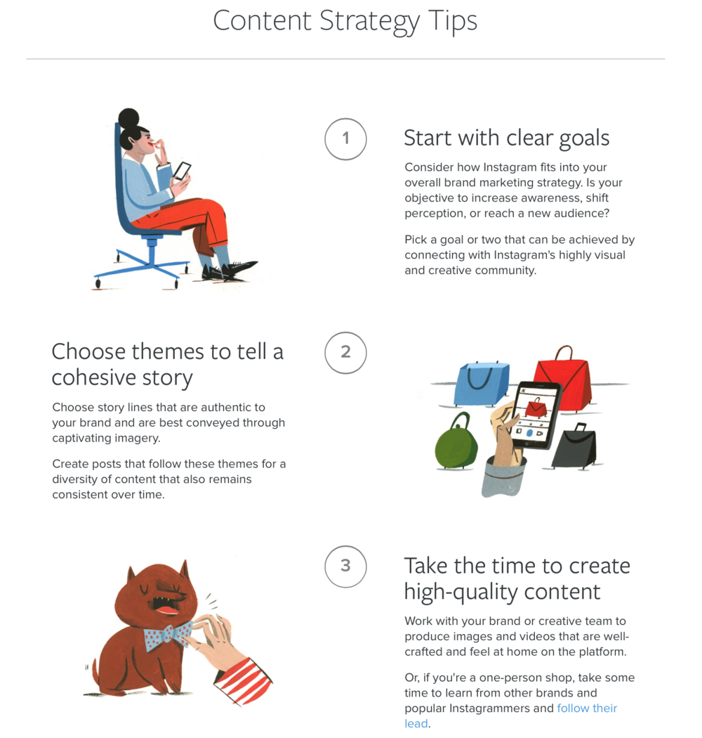 Instagram content strategy tips