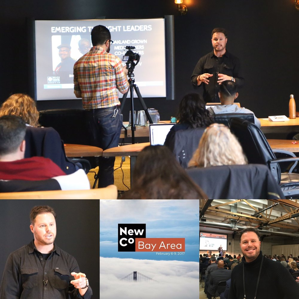 Brick House Media's founding director - Jared Brick presenting to a sold-out packed house at NewCo Bay Area - 2017 at Port Workspaces in Oakland, CA