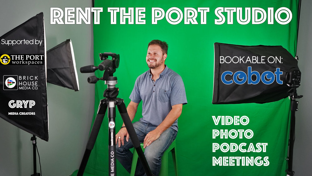 "The Port Studio is a new Gryp community space for photo, video and audio creators to support professionals and create ""gripping"" content!"