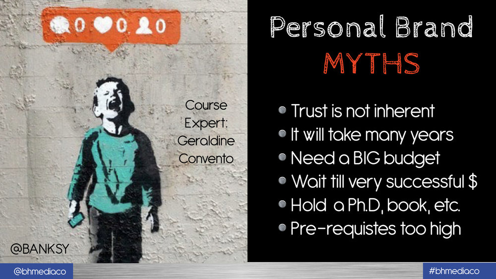PERSONAL BRAND MYTHS TO OVER COME