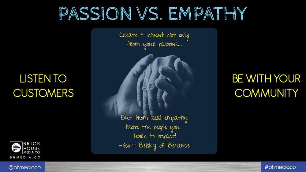 passion v empathy