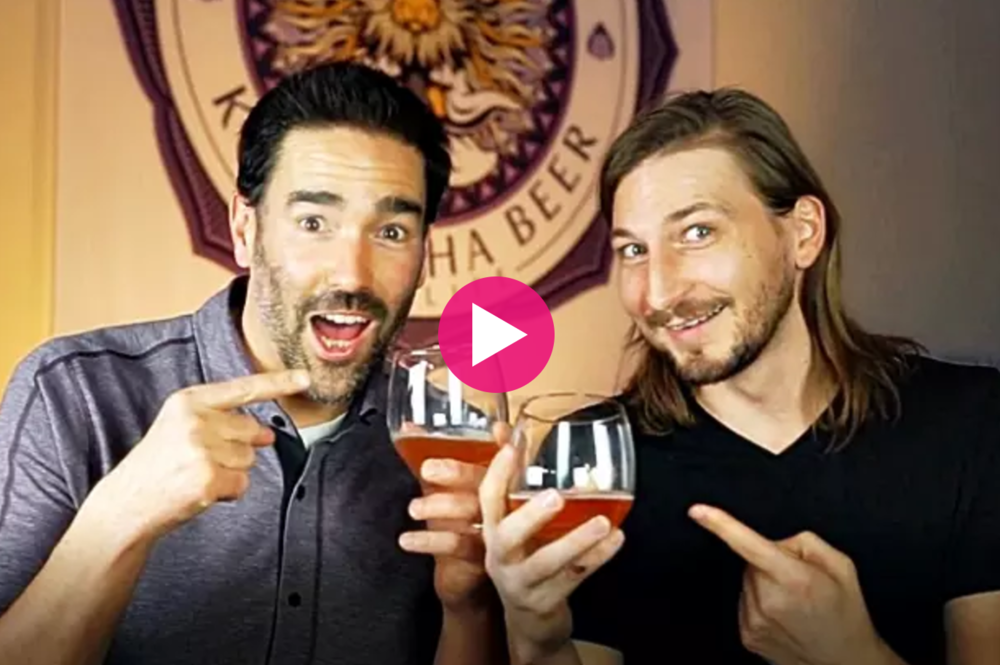 Tommy + Joshua, founders    Dr Hops Kombucha Beer    -  Creators of healthy probiotic Kombucha alcoholic drink (Crowdfunding on Indiegogo)
