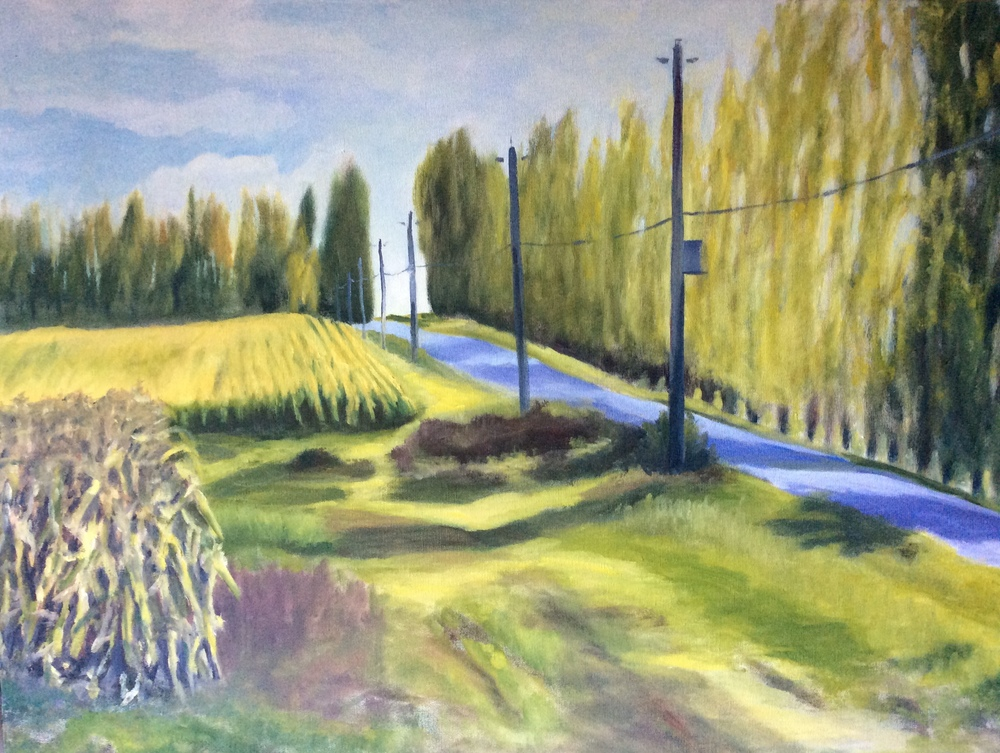 Up Martindale Road   Oil 24 x 30
