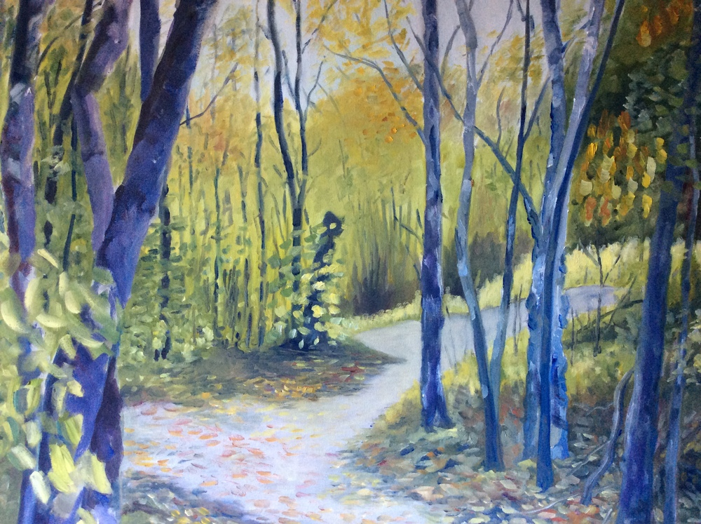 Two Paths Diverge   Oil 24 x 30