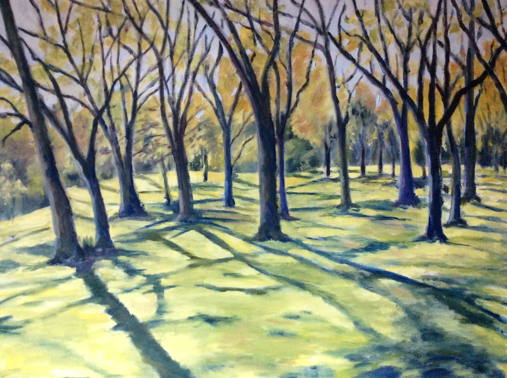 Beacon Hill Park   Oil 24 x 30