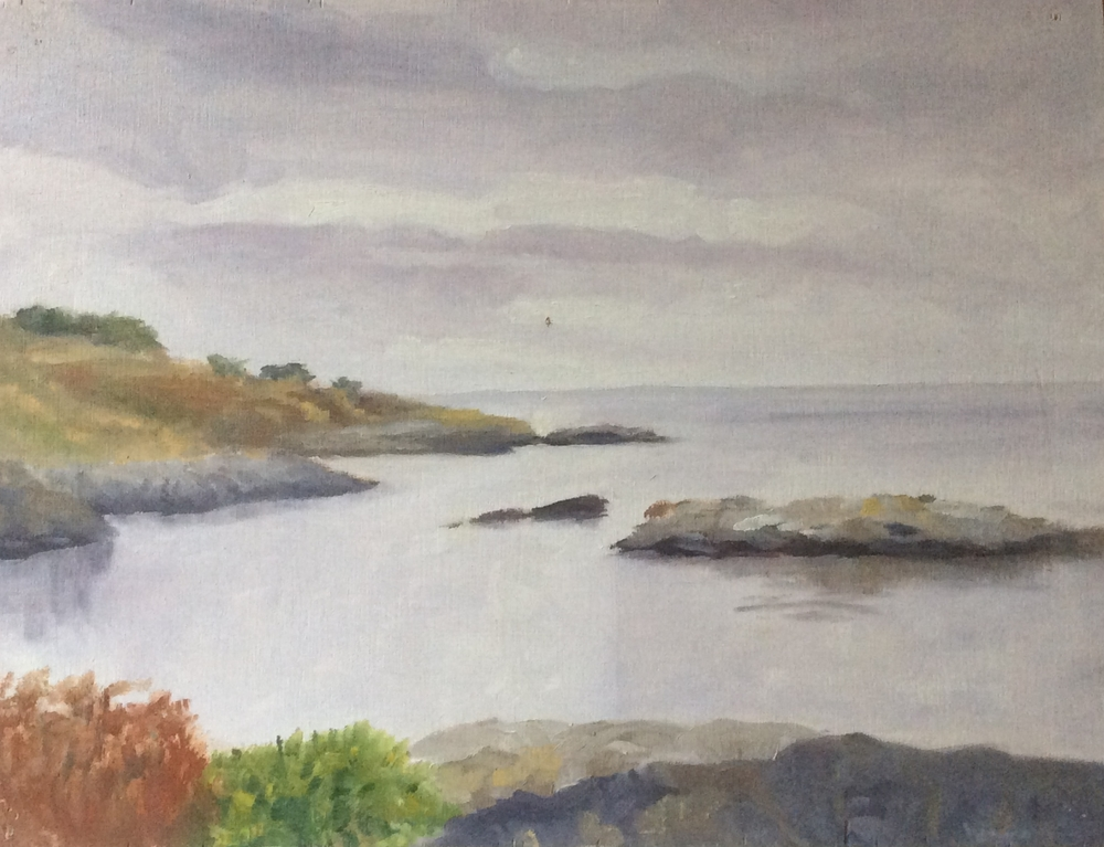 Saxe Point Mist    Oil 9 x 12