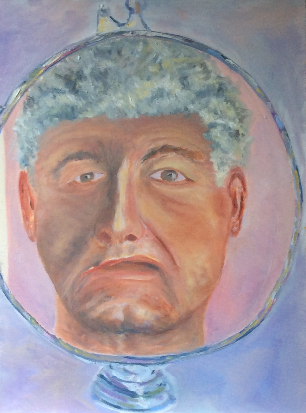Self Portrait   Oil 24 x 18