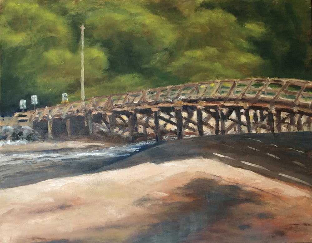 Wooden Bridge   Oil 11 x 14