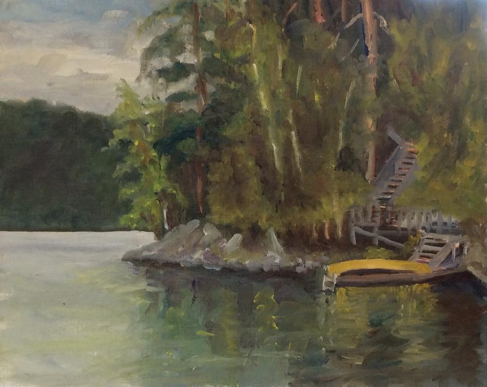 Feinstein's Dock   Oil 8 x 10