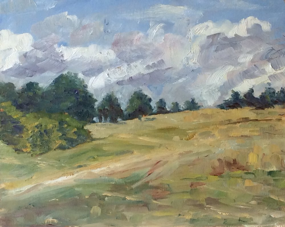 Western Sky   Oil 8 x 10
