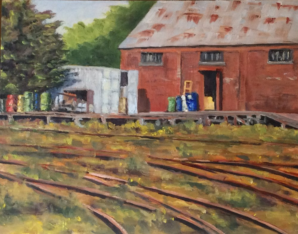 E&N Rail Yards   Oil 11 x 14