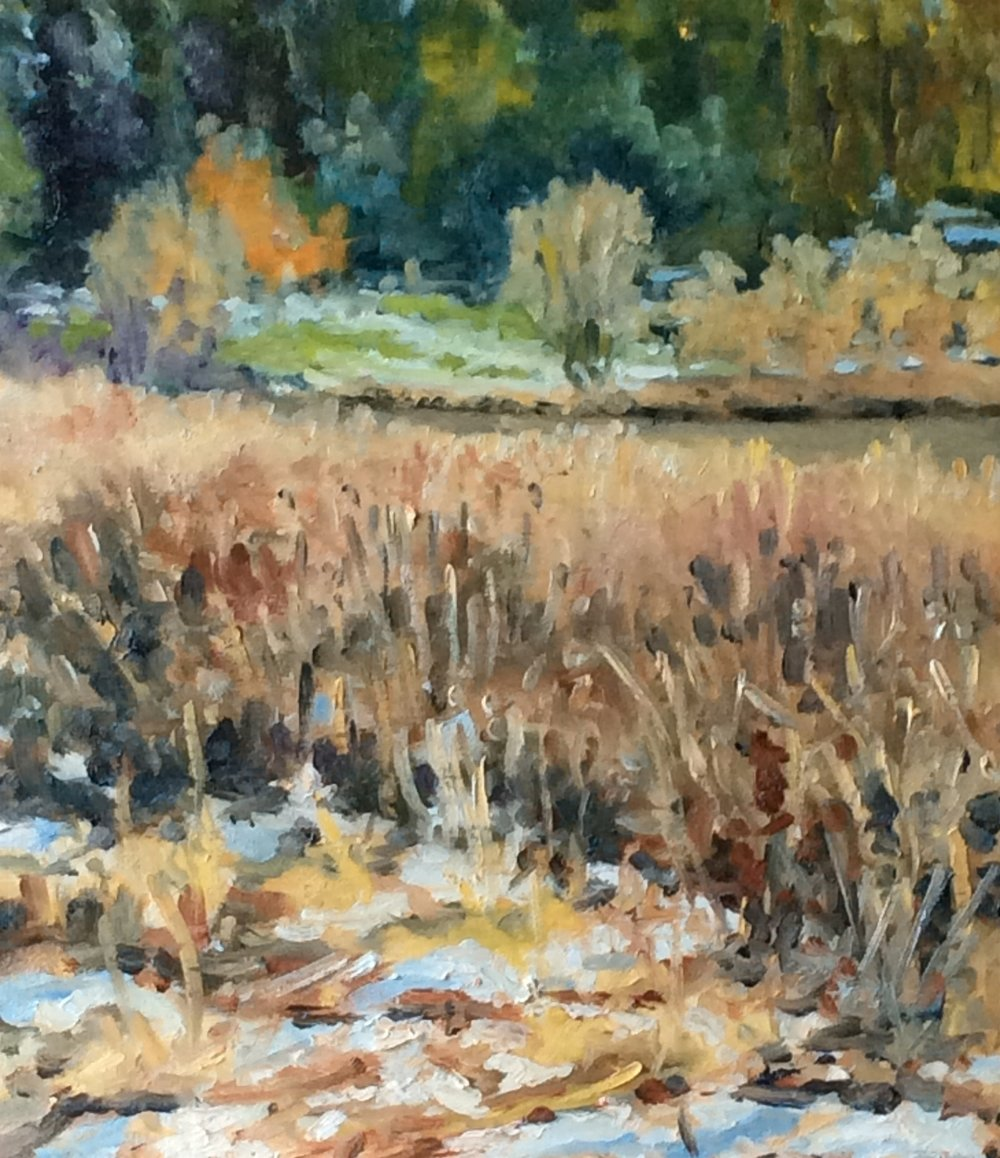 Snowy Wetlands   Oil 8 x 10