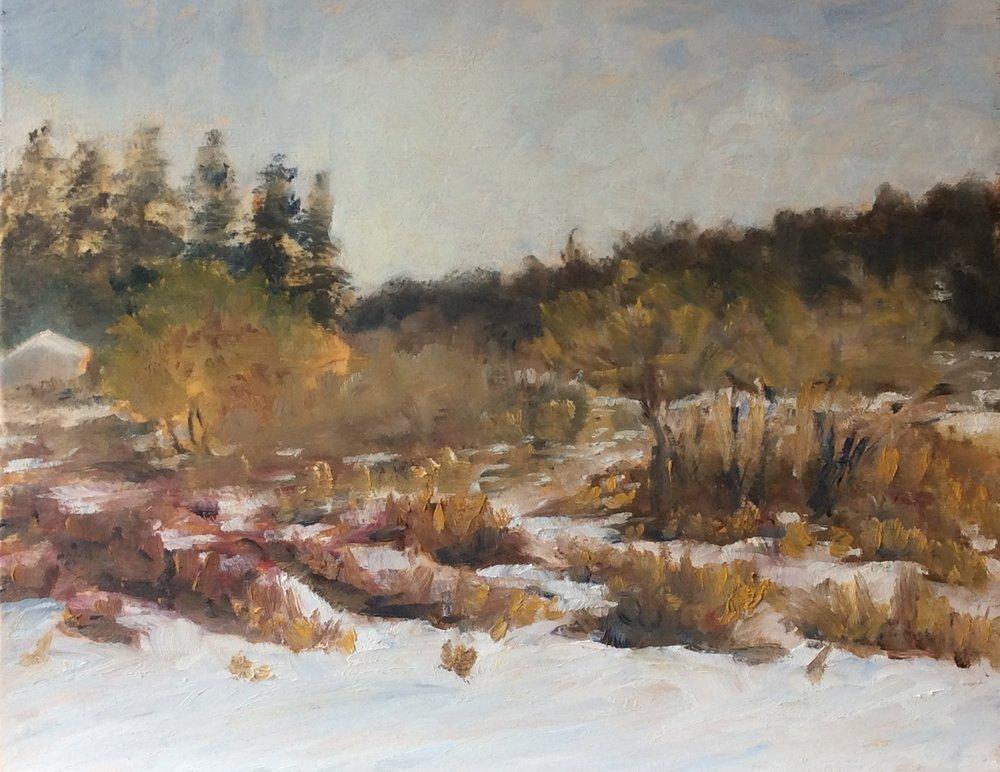 Fresh Snow   Oil 11 x 14