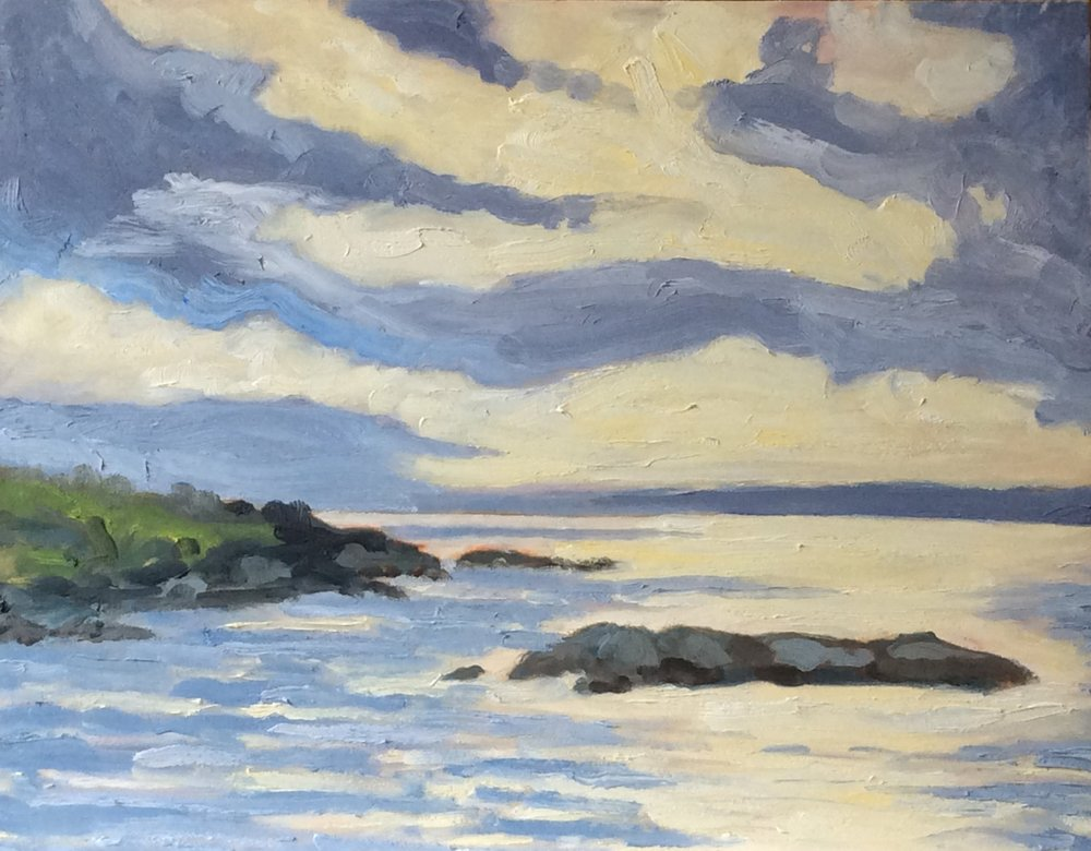 Saxe Point Light   Oil 11 x 14