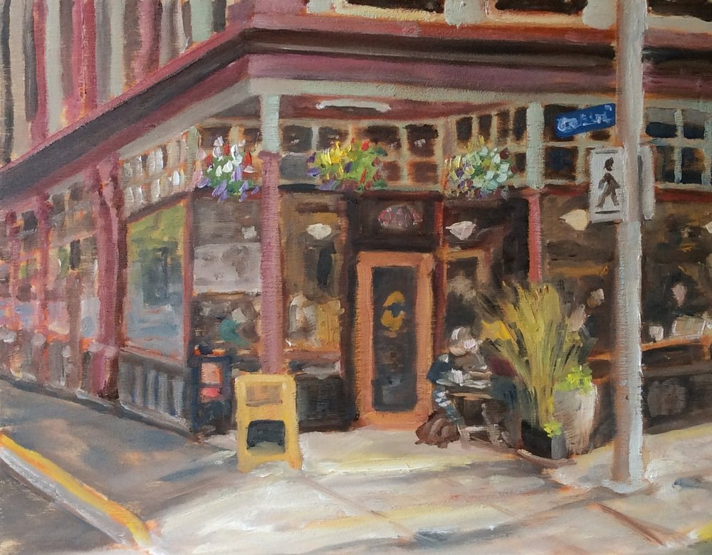 Fernwood - Cornerstone Cafe   Oil 11 x 14