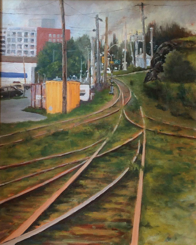 Rail Lines   Oil 30 x 24