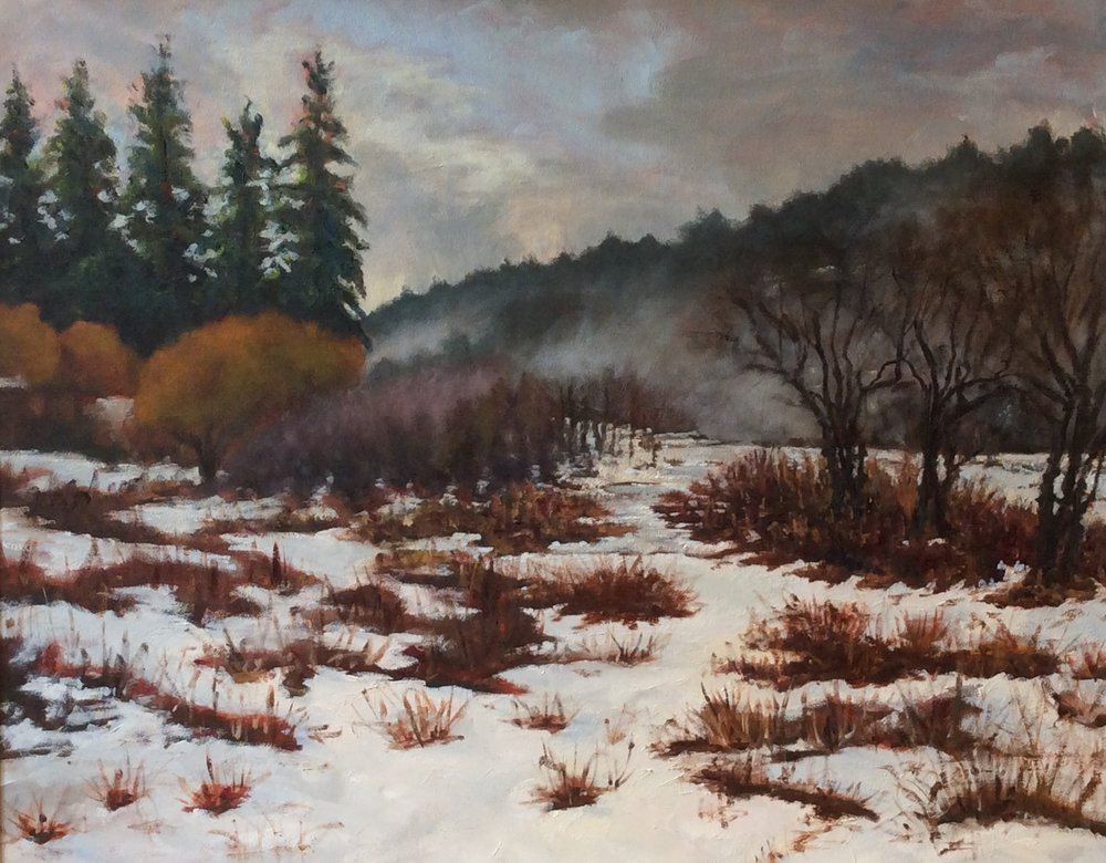 "Snow   Oil 24"" x 30"""