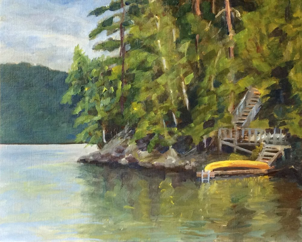 Feinstein's Dock   Acrylic 8 x 10