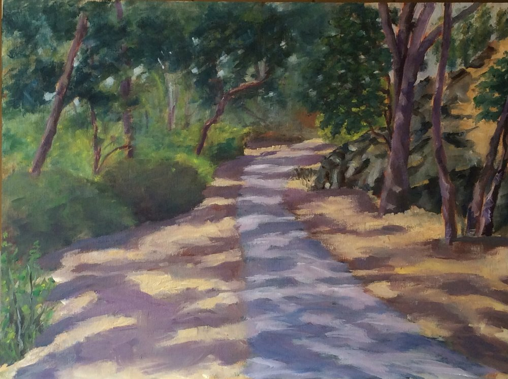 Dappled Pathway   Oil 12 x 16