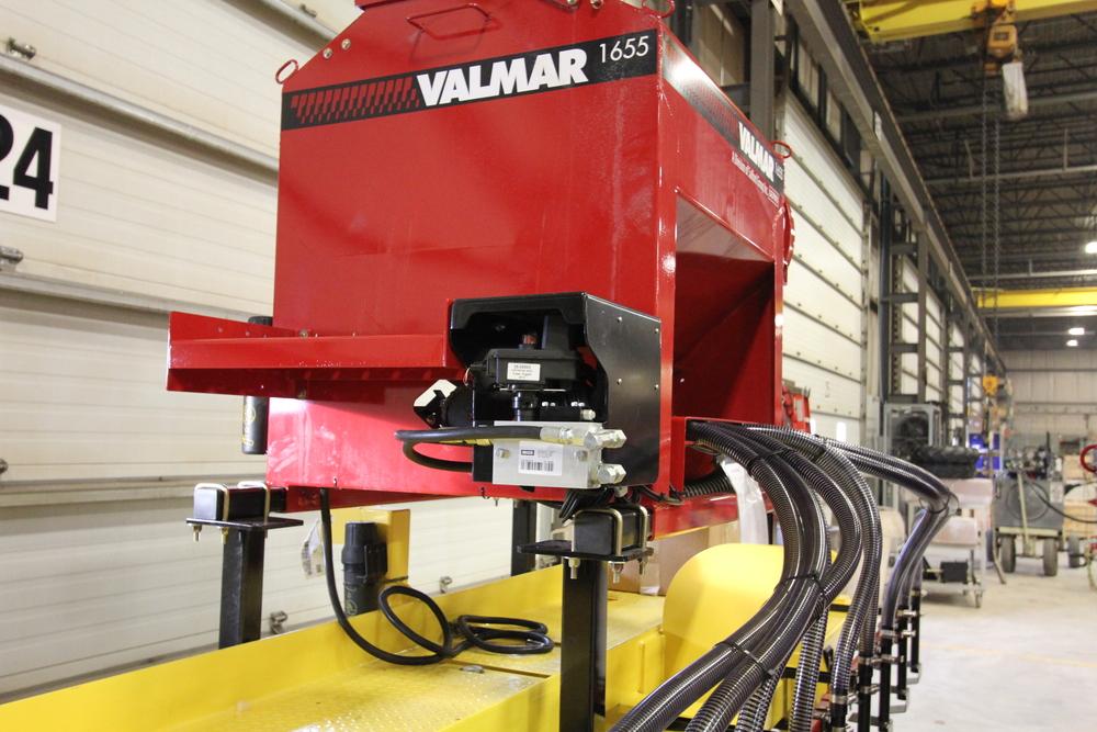 Valmar 55 series implement-mount in factory