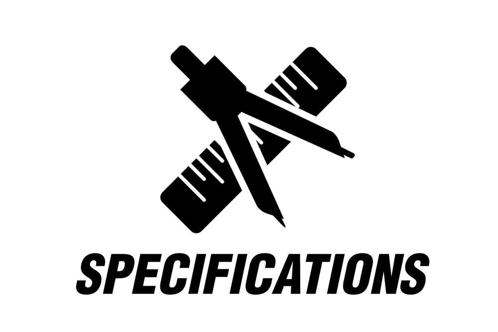 Copy of Copy of Specifications