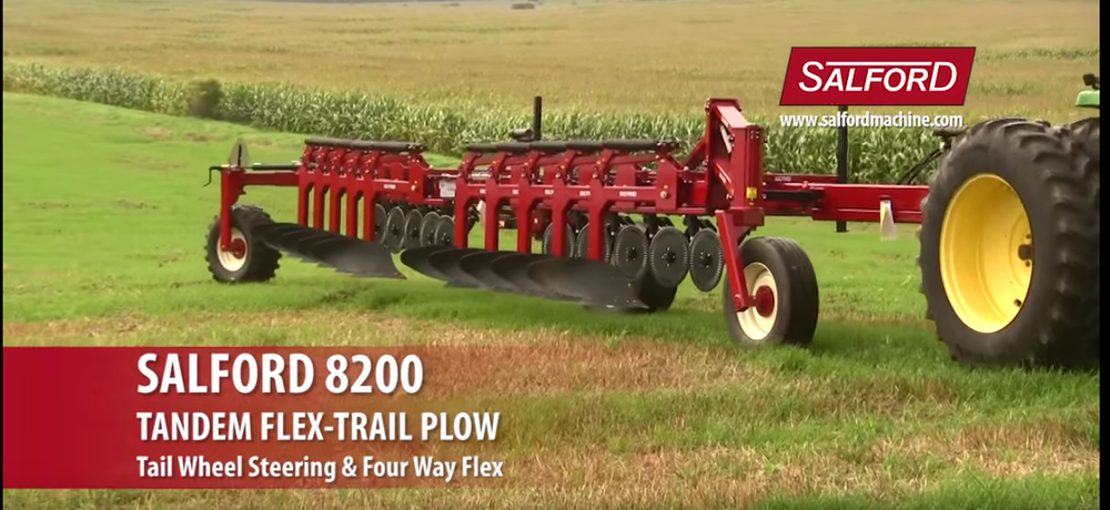 salford 8200 tandem flex-trail plow w/ tail wheel steering & Four way flex
