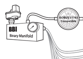BINARY MANIFOLD - BBI's proprietary Binary Manifold™ controls the hydraulic functions of your spreader and adapts these functions for ISOBUS 11783 compatible control systems.