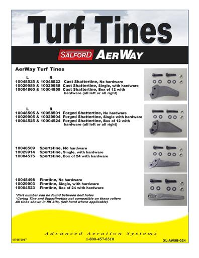 Aerway Turf Specs