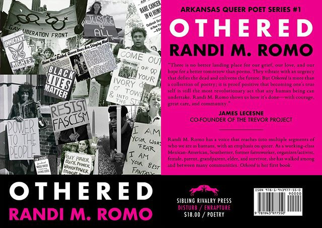 "The first edition of Sibling Rivalry Press' Arkansas Queer Poet Series titled ""OTHERED"" by Randi Romo will be available for the first time at Kaleidoscope Queer Arts Street Fair this Saturday, August 11.  Randi Romo will be signing copies at the SRP booth from 3-5 pm.  The Queer Arts Streer Fair is Saturday, August 11 from 12pm to 6pm in the Argenta Arts District of North Little Rock. It is part of the 4th Annual Kaleidoscope LGBT Film & Culture Festival which runs August 10-18. For more info: kal2018.com.  Queer Arts Street Fair is brought to you by @kaleidoscopefilmculture, @argentaarts, & @flywaybrewing.  @bryanborland @seth.pennington @explorenlr  #queerartsstreerfair #poetry #siblingrivalrypress #queer #lgbtq #kal2018 #kaleidoscope #lgbtfilmfestival #argentavibe #argentaartsdistrict"