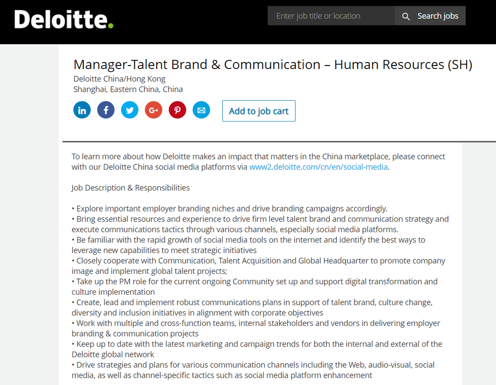 Deloitte even hires people for this specific job function (16). -
