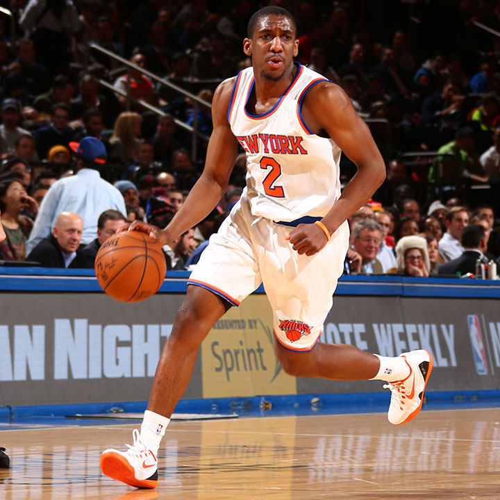 Langston Galloway (Born December 9, 1991) Galloway plays professional basketball currently for the New York Knicks. He played college basketball for Saint Joseph's University. He attended high school in Baton Rouge, Louisiana where he received a two-time District Player of the Year. He joined the Knicks during the 2014 NBA Summer League and later that year officially signed. He has then gone on to be the be the first undrafted player in Knicks history to make an NBA All-Rookie team. Source: http://www.slamonline.com/kicks/nba-sneakers-2015-0108/#vVAg4uUrkRDUtT83.97